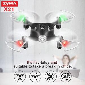 Image 2 - SYMA X21 Fernbedienung Hubschrauber RC Drone Quadcopter Mini Drohnen Flugzeuge 6 aixs Gyro Eders Headless modus Spielzeug Für Kinder