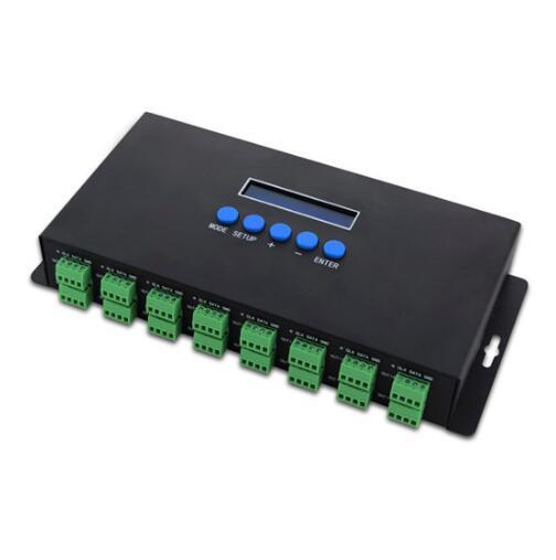 Nouvelle led Lumières Contrôleurs 16 Canaux Artnet À SPI/DMX Pixel Lumière Contrôleur 340 pixels * 16CH + deux ports (2x512) DC5V-24V bc-216