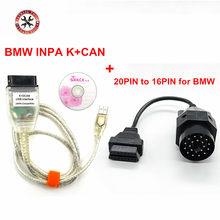 Para bmw inpa k + pode k pode inpa ft232rl ft232rq inpa k dcan interface usb com interruptor mais 20pin obd2 adaptador conector para bmw