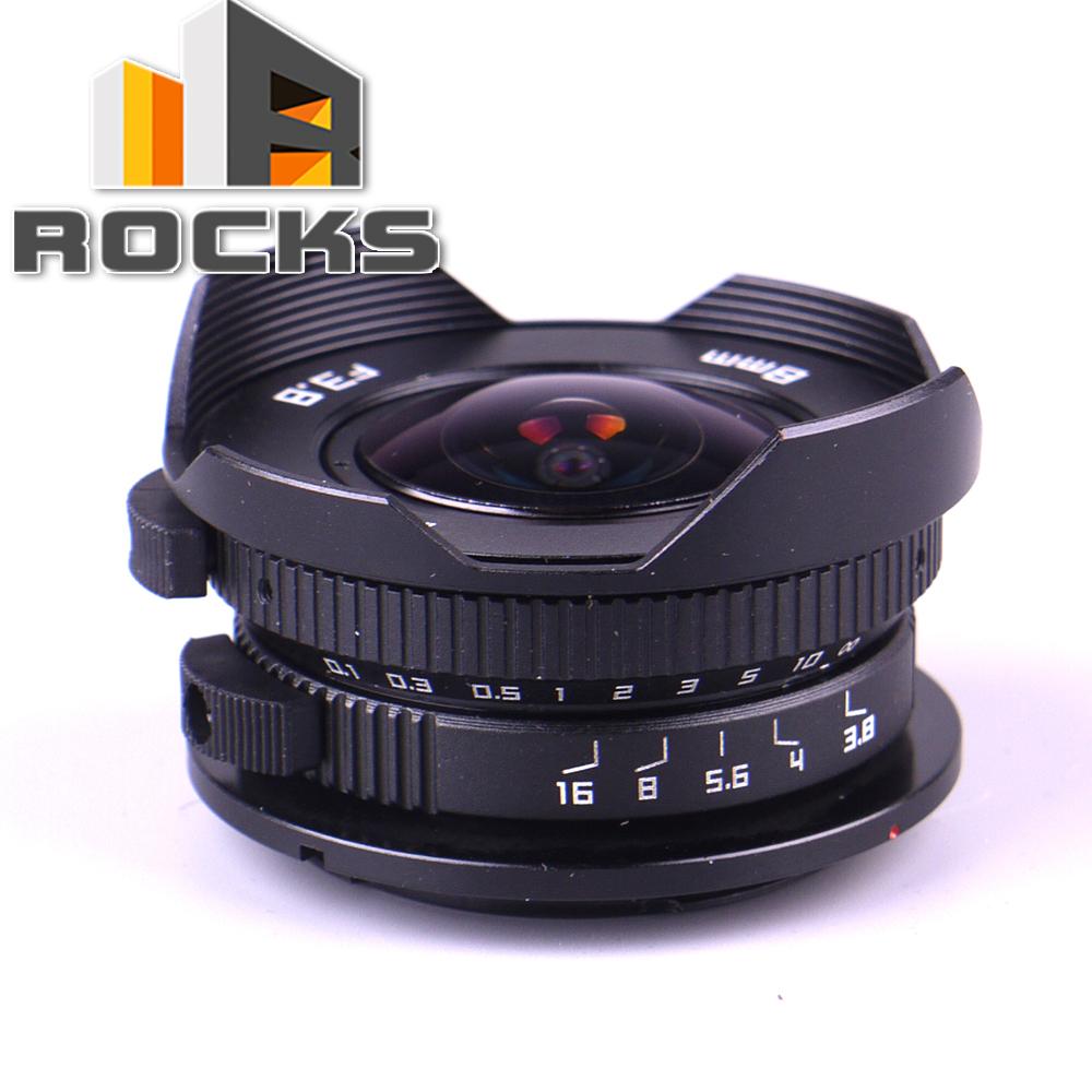 Prix pour Caméra 8mm F3.8 Fish-Eye CC TV Lentille costume Pour Micro Quatre Tiers montage Caméra LUMIX GX8 G7 GF3 GF7 OM-D E-M10 E-M5 Stylo E-PL7 E-PM2