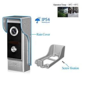 Image 3 - 4,3 дюймовый TFT цветной проводной видеодомофон, система дверного звонка для дома 700TVL ИК ночного видения, наружная камера, металлическая водонепроницаемая