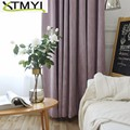 High shading Blackout Curtains for Living Room Modern cotton Bedroom Window Curtains Blinds