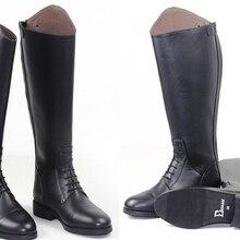 Высококачественные мужские полусапожки из кожи для верховой езды; высокие сапоги для верховой езды; кожаные леггинсы