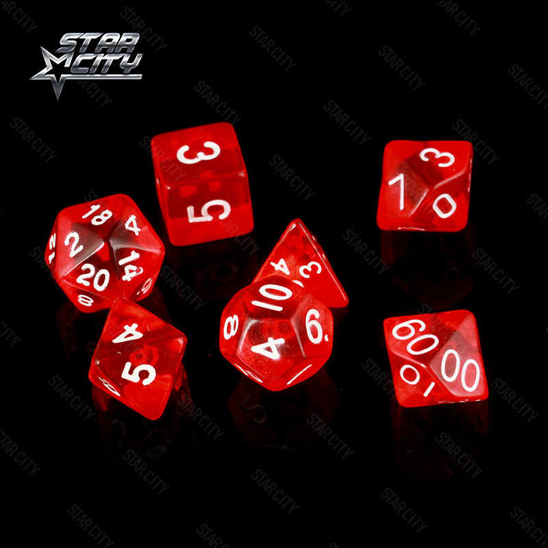7 pz/borsa Multi-Sided Dice Set D4,D6,D8,D10,D10 %,D12, d20 Accessori Colorati per la Pensione Gioco RPG Dungeons and Dragons DnD MTG