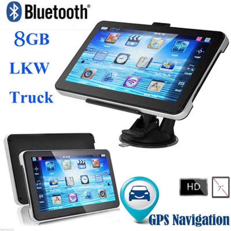 2pcs/lots Free DHL 7 inch Car GPS Navigation Built 8GB Bluetooth WIFI /Europe map Truck Vehicle gps Navigator dhl ems 10 lots sunx fx 7 photoelectric sensor c3 d9