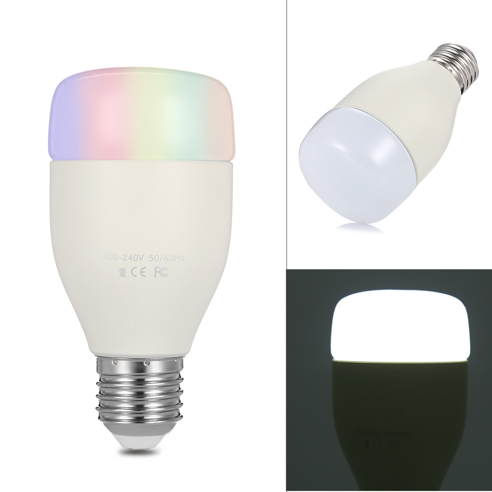 WiFi Smart Bulb 6W E27 RGB White LED Light Smartphone Controlled Dimmable Lampada Light Color Changing Music Sync Party Lights 10w magiclight pro wifi bluetooth smartphone controlled wake up dimmable multicolored led light bulb e27 for ios android