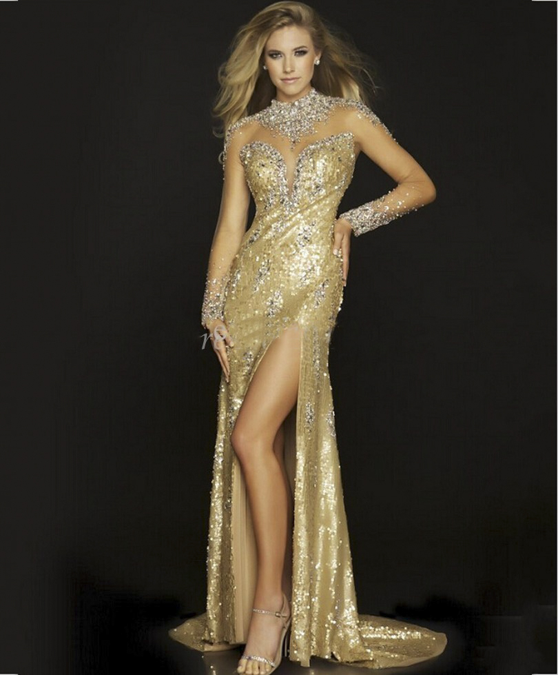 Compare Prices on Gold Long Evening Dress- Online Shopping/Buy Low ...