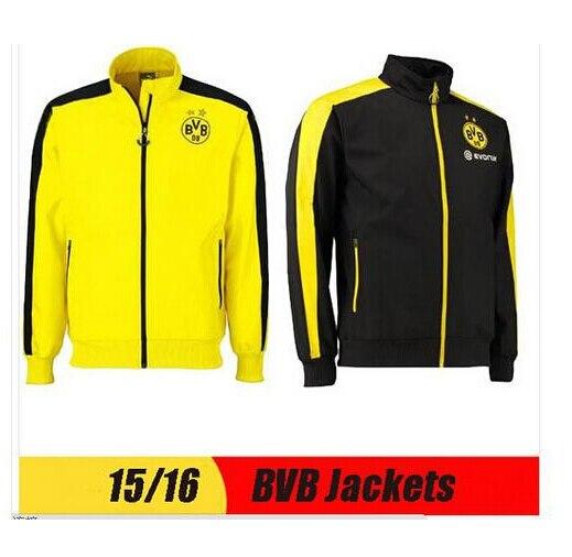 15 16 chaqueta de fútbol Borussia Dortmund capa de la