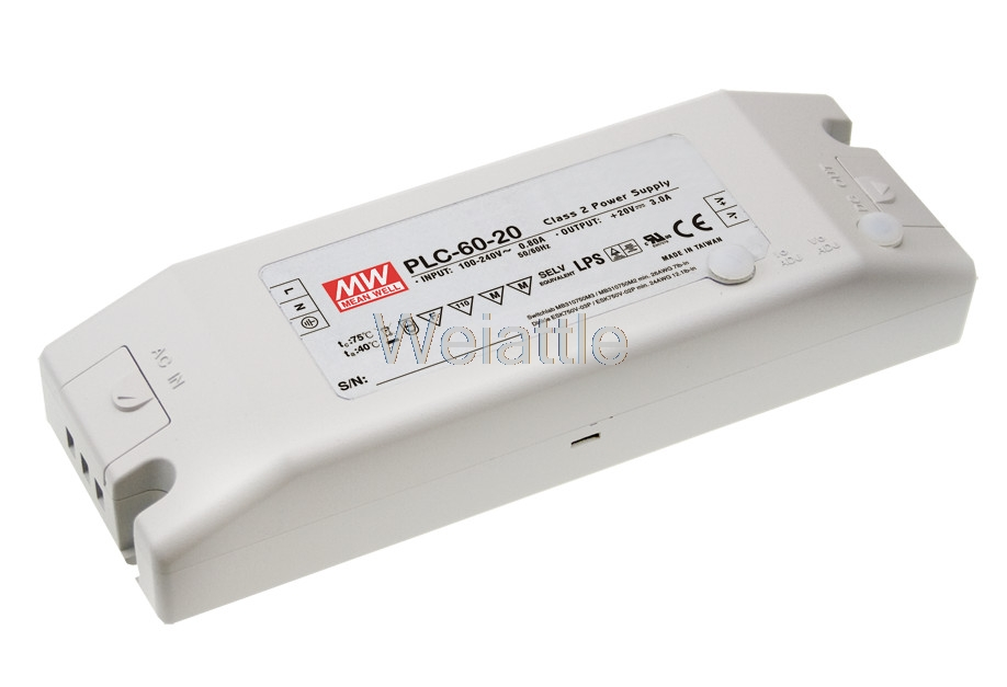цена на [Cheneng]MEAN WELL original PLC-60-36 36V 1.7A meanwell PLC-60 36V 61.2W Single Output LED Power Supply