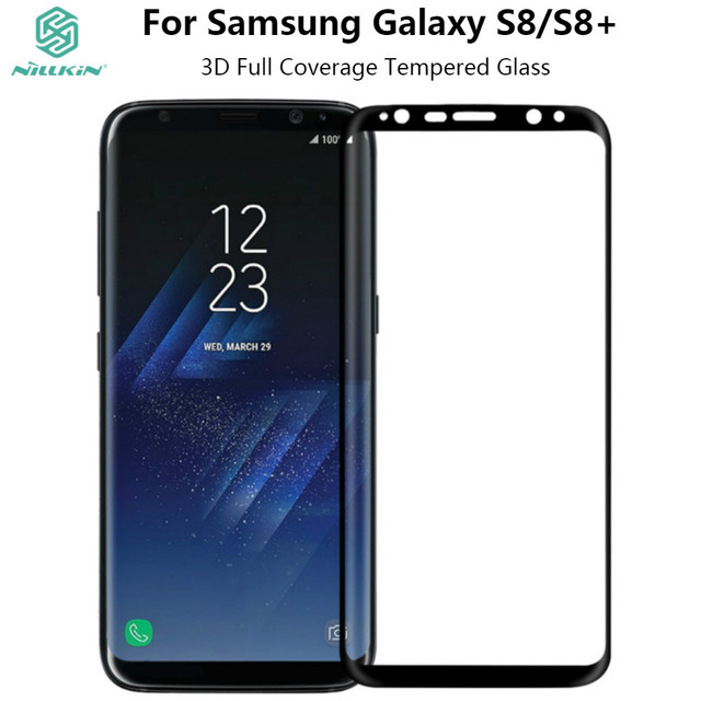 NILLKIN Tempered Glass For Samsung Galaxy S8 S8 Plus Full Coverage 3D CP+ MAX Screen Protector Glass Film For Galaxy S8 S8+