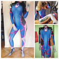 2016 Nuevos D. VA Cosplay Lycra Spandex Impresión Digital D. VA Cosplay Zentai Traje de Halloween Para Adultos trajes para Las Mujeres