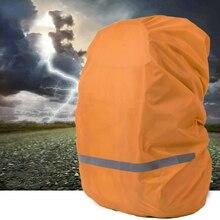 Luz reflexiva impermeável dustproof mochila capa de chuva portátil ultraleve bolsa de ombro proteger ferramentas ao ar livre