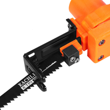Portable Reciprocating Saw Kit Reciprocating Home DIY Saw Attachment Electric Drill Into For Wood Metal Cutting