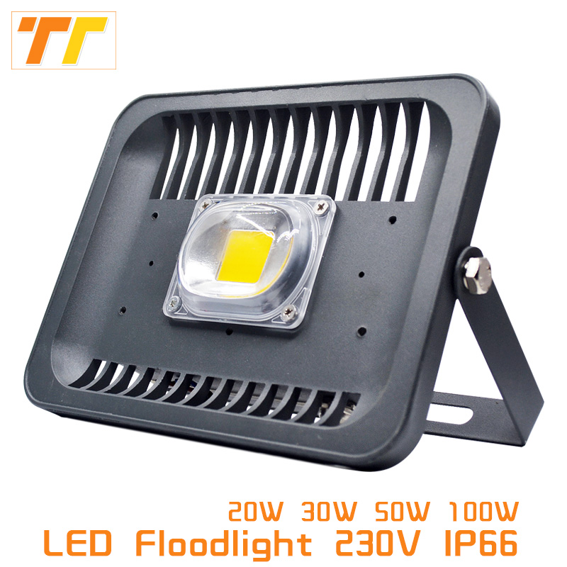 LED Flood Light Projector IP66 WaterProof 20W 30W 50W 100W 220V 230V LED FloodLight Spotlight Wall Lamp Outdoor lighting [mingben] led flood light projector ip65 waterproof 30w 50w 100w ac 220v 230v 110v led floodlight spotlight outdoor wall lamp