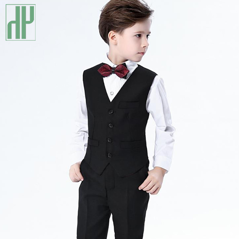 4PCS/SET Boys blazers kids suits for weddings Prom Suits Wedding Dress for Boys Kids tuexdo Children Clothing Set Blazers kids blazers jackets blue patchwork clothing set for baby clothes boys wedding dress children lounge suit terno infantil blazers