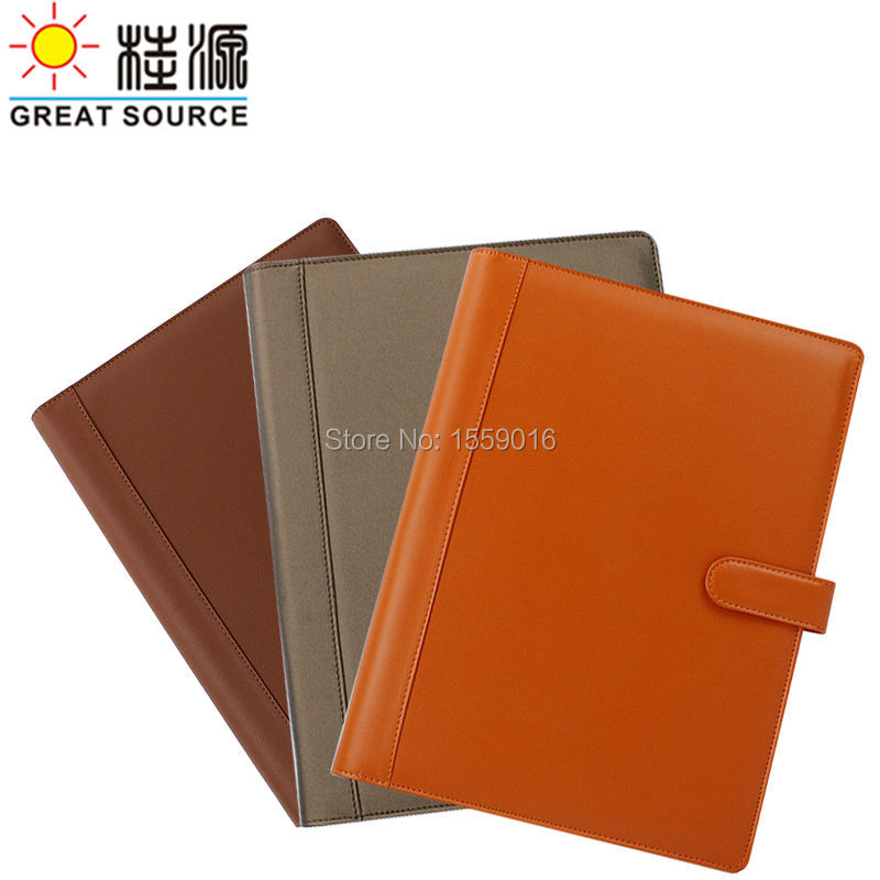 Great Source Leather Portfolio Compendium Binders A4 file Manager Folder 4 rings binder A4 document folder with calculator