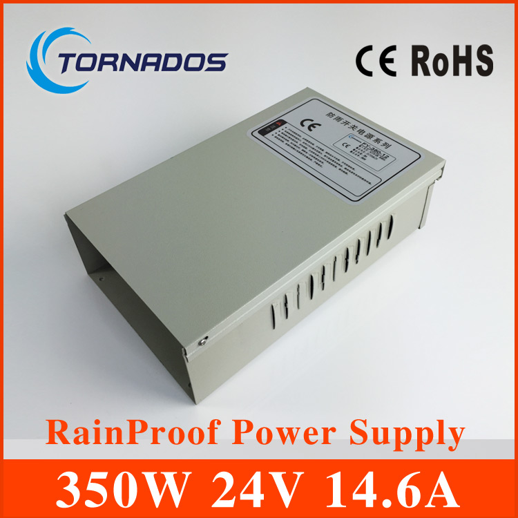 Auto Fan Cooling 350W DC24V 14.6A Rainproof Switching Power Supply for LED Screen FY-350-24 s 350 24 350w 24v non waterproof aluminium switching power supply cooling fan