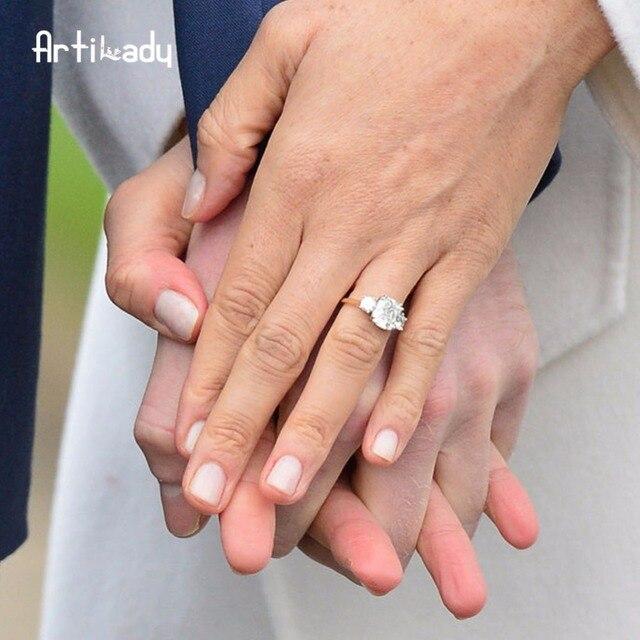 Artilady Meghan engagement ring Royal wedding ring wedding jewelry gift dropship