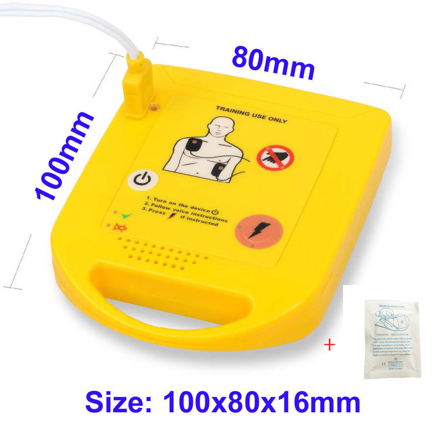 Mini AED Trainer XFT First Aid Training Kit Practice Study Training Machine In English + 1 Cpr Face Shield cricket training in indian universities