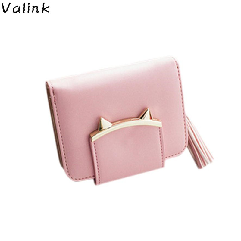 2017 Fashion Women Wallets PU Leather Tassel Female Wallet Ladies Bronzing Cat ears Clutches New Brand Card Holder Women Purses yuanyu 2018 new hot free shipping pearl fish skin long women clutches euramerican fashion leisure female clutches