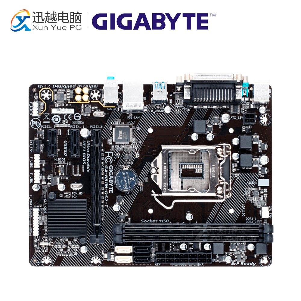 все цены на Gigabyte GA-H81M-DS2-T Desktop Motherboard H81M-DS2-T H81 LGA 1150 i3 i5 i7 DDR3 16G Micro-ATX