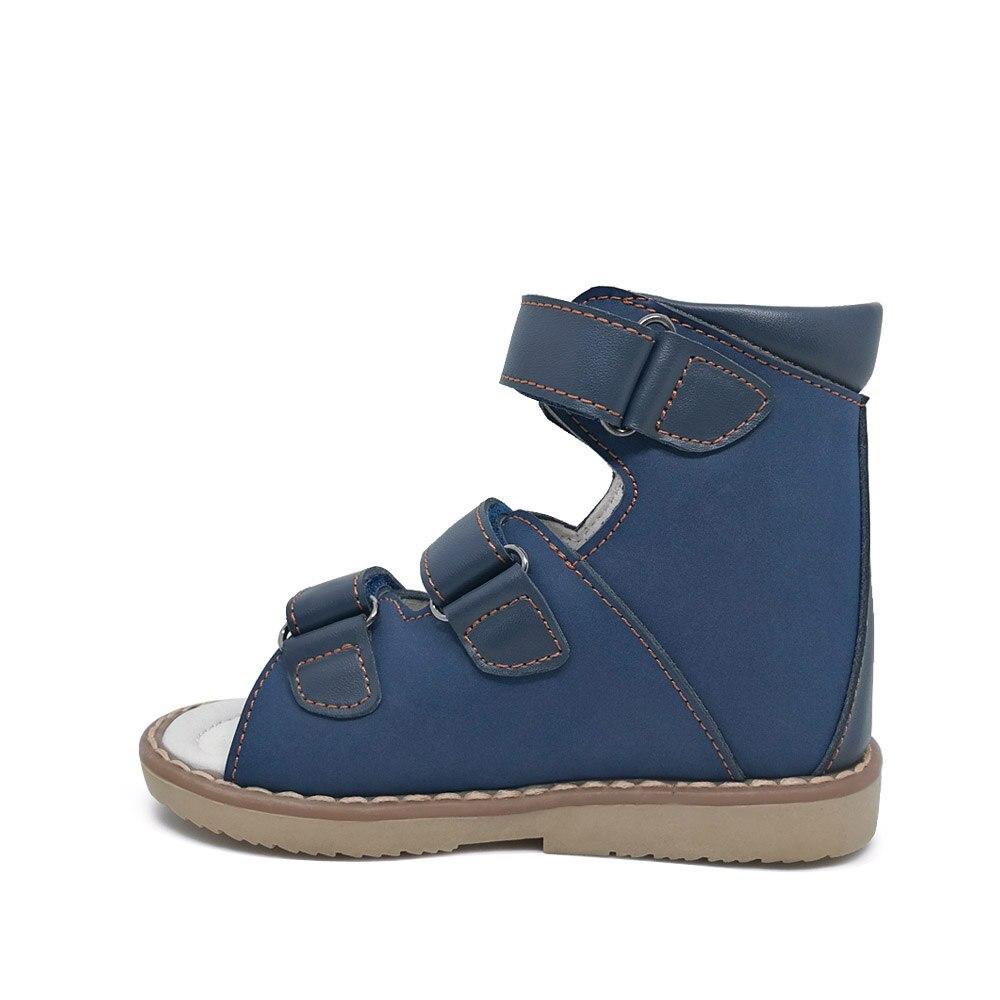 ORTHOFIT Crna Dječja kožna sandala Zatvorena peta Djeca Ortopedske - Dječja obuća - Foto 3