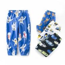 Г. хлопковая флисовая Пижама для мальчиков и девочек пижама для сна с героями мультфильмов для малышей Детская одежда пижамы детская одежда для отдыха осенние штаны