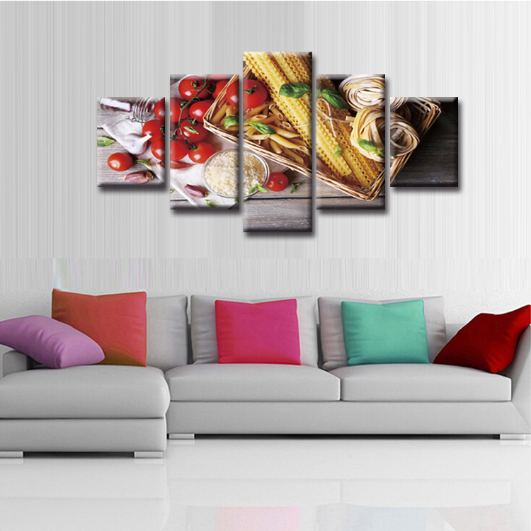 5 Pieces Large Canvas Painting Pictures Modern Food series Wall Pictures for Living Room Print Paintings Home Decor Canvas in Painting Calligraphy from Home Garden