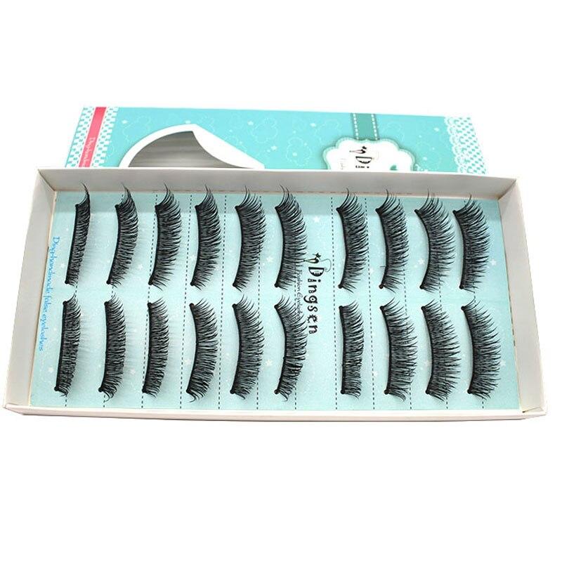 10 Pairs Handmade Thick False Eyelashes Mink Eyelash Winged Eye Lashes Extensions Voluminous Makeup Tools Eyelashes Fake