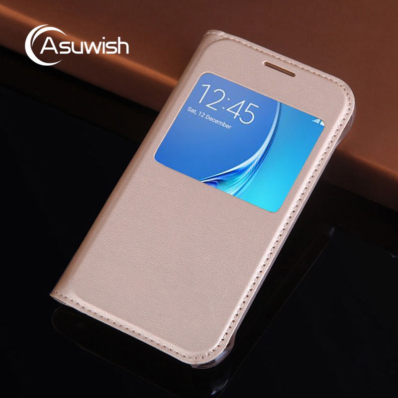 Flip Cover Leather Phone Case For Samsung Galaxy J1 mini J1mini Nxt Duos GalaxyJ1 SM J105 J 1 2015 <font><b>J100H</b></font> J100F SM-J105H SM-J105F image