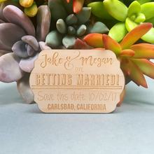 Wood Magnets - Rustic Wedding Save the Date Save the Date Magnets Custom Engraved(China)