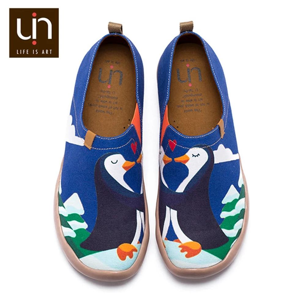 UIN Hand painted Design Art Shoes Women/Men Canvas Loafers for Wide Feet Comfort Shoes Outdoor Fashion Sneaker Super Lightweight|Women's Flats| - AliExpress