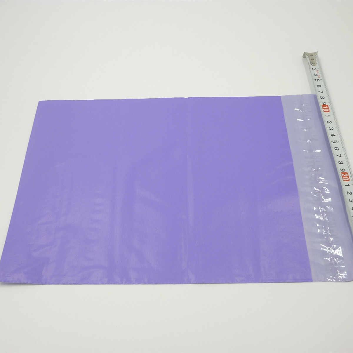 O logotipo feito sob encomenda de 100x imprimiu os envelopes plásticos roxos do transporte/enviando sacos polis para a roupa, saco de empacotamento expresso do saco do cargo