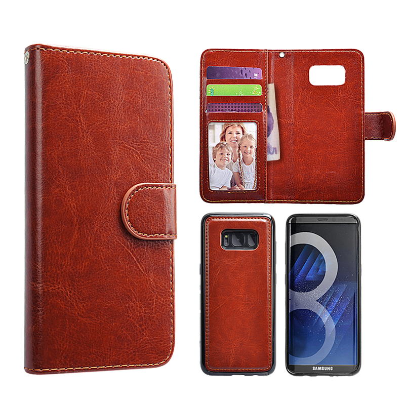 For Samsung Galaxy S8 Case Flip Cover 2 in 1 Detachable Wallet PU Leather Case For Samsung S8 Plus Case Card Slot Coque Magnetic