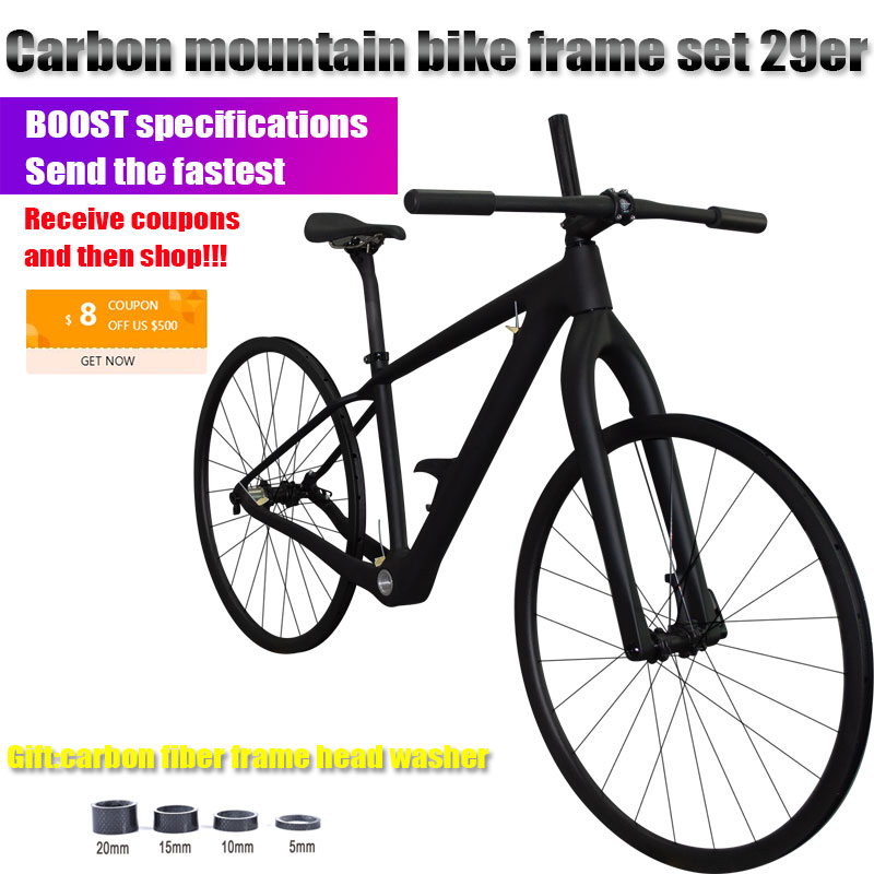 2019 CARBOMANIA brand T800 carbon mtb frame set 29er mtb carbon frame 29 carbon mountain <font><b>bike</b></font> frame set Boost bicycle frameset image