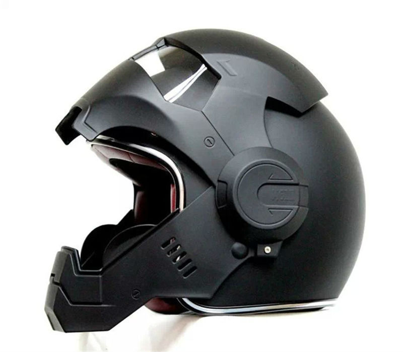 Cool Iron Man Motorcycle Helmet side open face