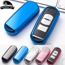 цена на Intelligent Car Key Case For Mazda 2 3 5 6 8 CX5 M2 M3 M5 M6 CX7 CX9 GT Keychain TPU Keychain Key Holder Bag Cover