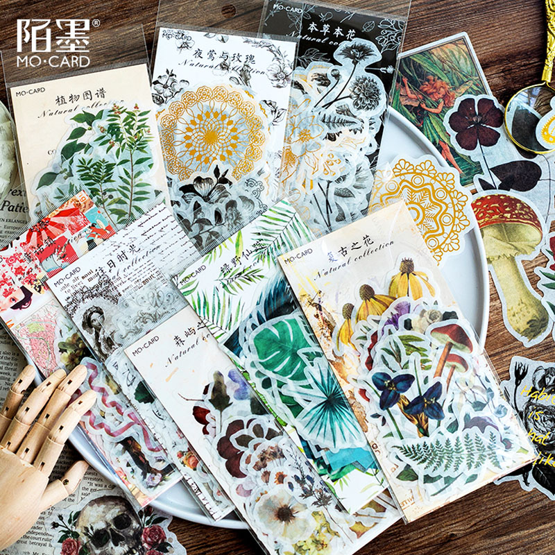 60 pçs/lote planta flor do vintage washi papel autocolante autocolantes decoração DIY ablum diário scrapbooking etiqueta autocolante papelaria