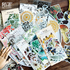 60 pcs/lot vintage plant flower washi paper sticker decoration stickers DIY ablum diary scrapbooking label sticker stationery