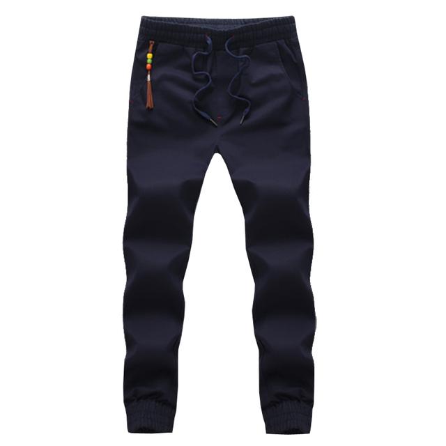 Nueva llegada de los hombres pantalones de chándal flacos joggers pantalones chandal hombre 5 colores 4XL 5XL CCL76