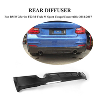 Carbon Fiber Rear Lip Diffuser Spoiler for BMW 2Series F22 M Sport Coupe Convertible 2014 2017 Exhaust Diffuser Car Styling