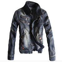 4XL Men 's Denim Jackets Spring and Autumn Style Famous Brand Cowboy Jacket and Coat Vintage Style Mens Overcoats For Sale C1079