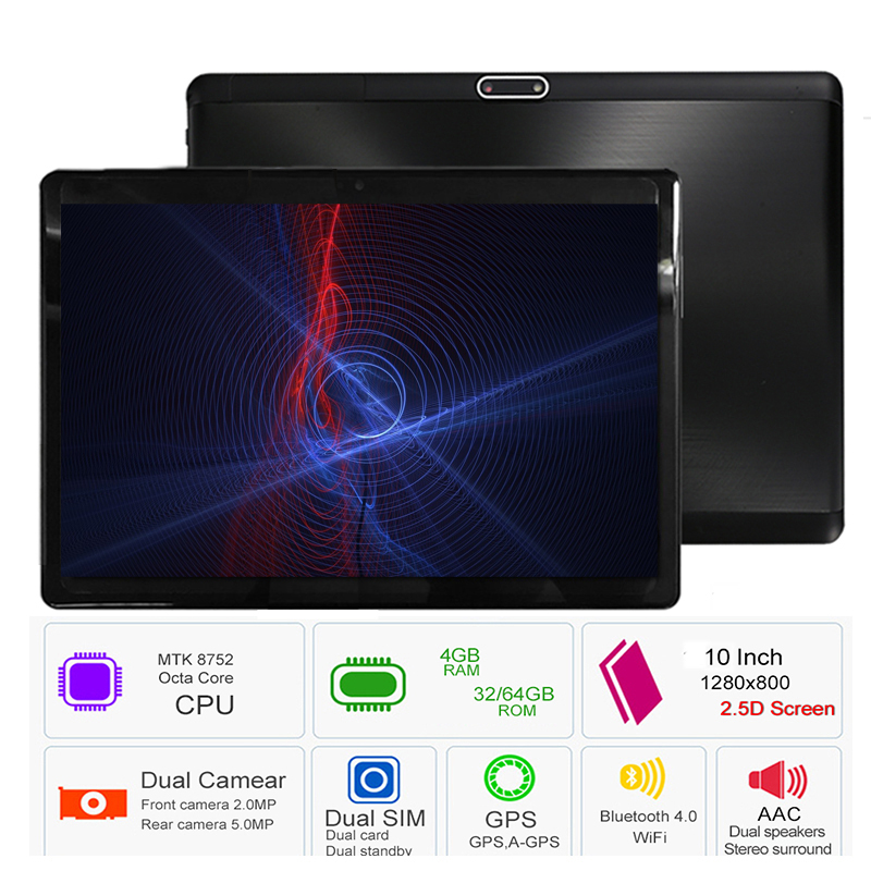 2019 10 inch Original Tablet PC 3G 4GB RAM 32GB 64GB ROM Dual SIM Android 8.0 WIFI GPS 8 Core IPS Phone Bluetooth 2.5D Screen cige a6510 10 1 inch android 6 0 tablet pc octa core 4gb ram 32gb 64gb rom gps 1280 800 ips 3g tablets 10 phone call dual sim