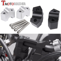 Aluminum Handlebar Riser Clamp Mount 20mm Handle bar Bracket Kit Extend Adapter for Kawasaki Z250 Z300 Z800 Z 250 Z 300 Z 800