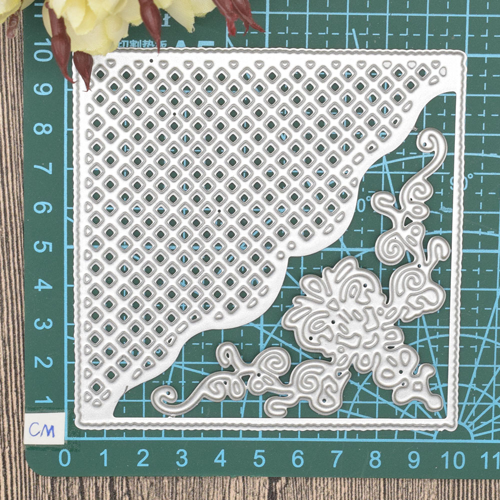 Lace Flowers Scrapbooking Frame Dies Metal Cutting Embossing Craft Cut for Cards Making