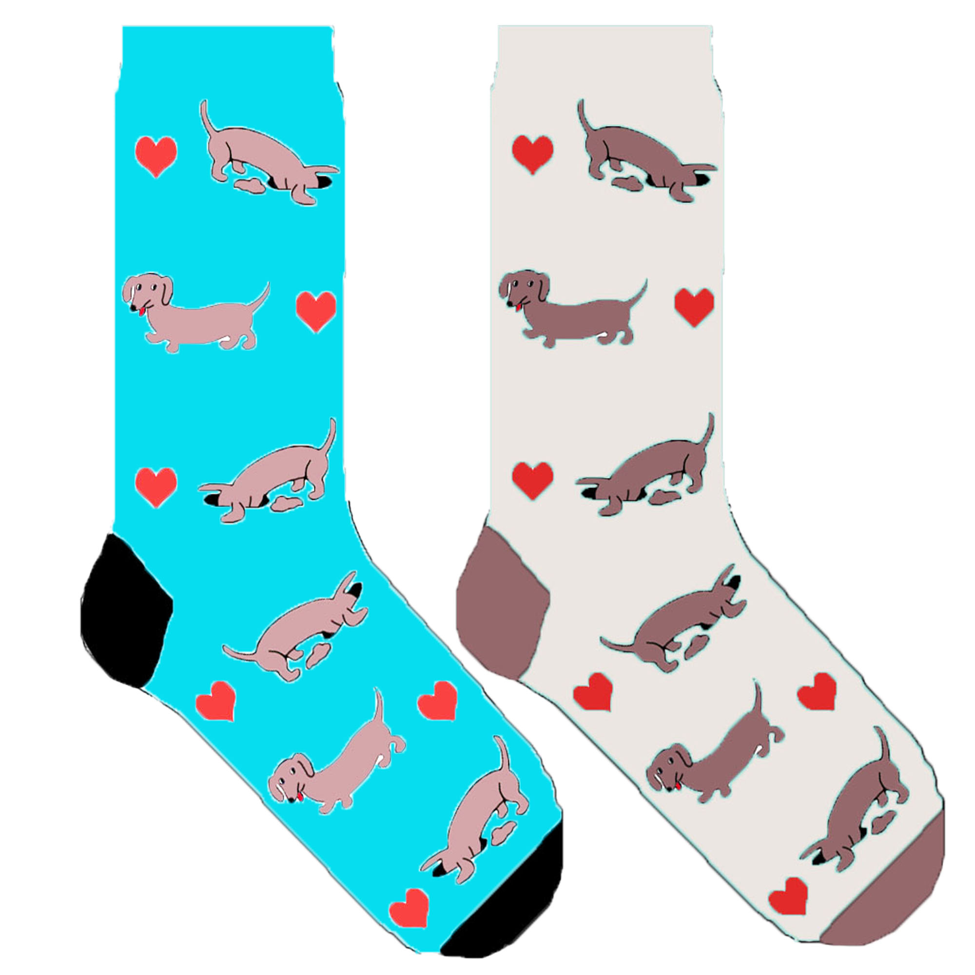 hoard as a rare commodity cheapest uk store US $174.5 30% OFF|cute dachshund socks with heart fun sausage dog socks for  women puppy graphic novelty crew socks gift 50 pair/lot-in Socks from ...