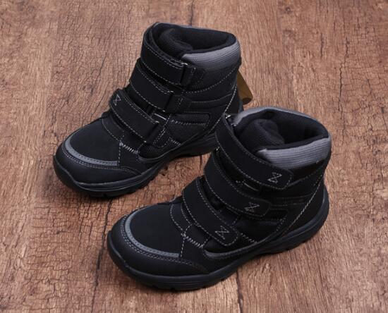 Kids winter hiking shoes children waterproof breathable slip-resistant hiking sneakers boys wool snow shoes for-30C