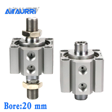 Double-headed SDAD20X5X10X15X20X25X30X35X40X45X50X75-B double-out thin cylinder SDAD