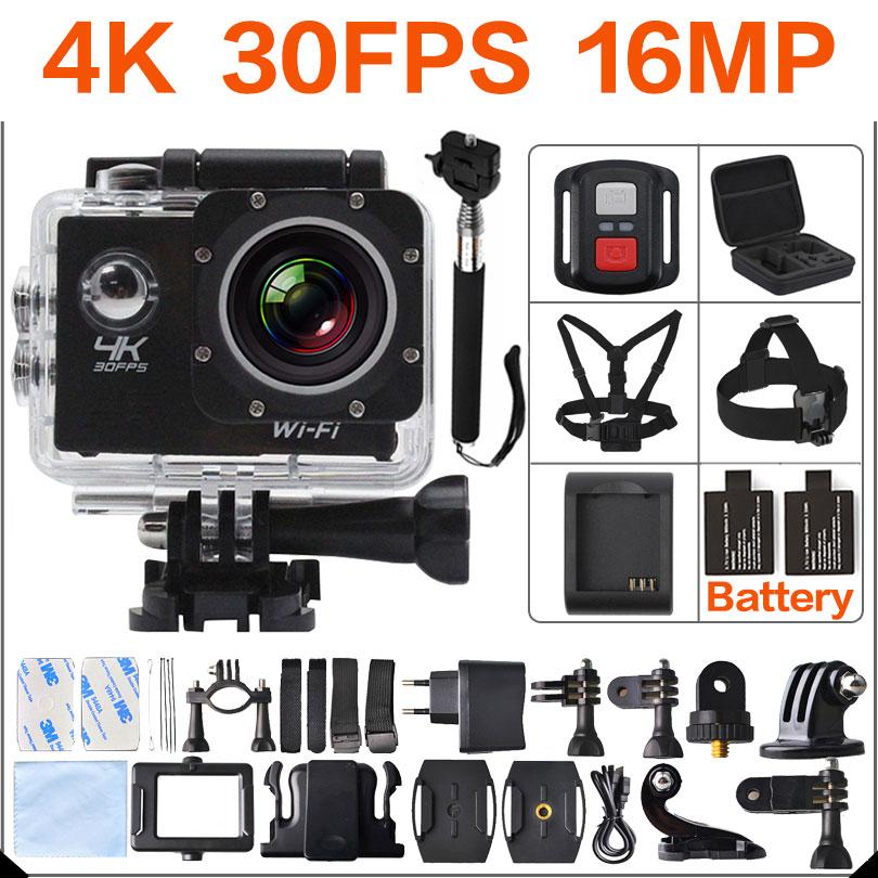 Prix pour Ultra HD 4 K d'action Caméra wifi Caméscopes 16MP 170 go cam sj pro 4 K deportiva 2 pouce f60 Étanche Sport Caméra 1080 P 60fps