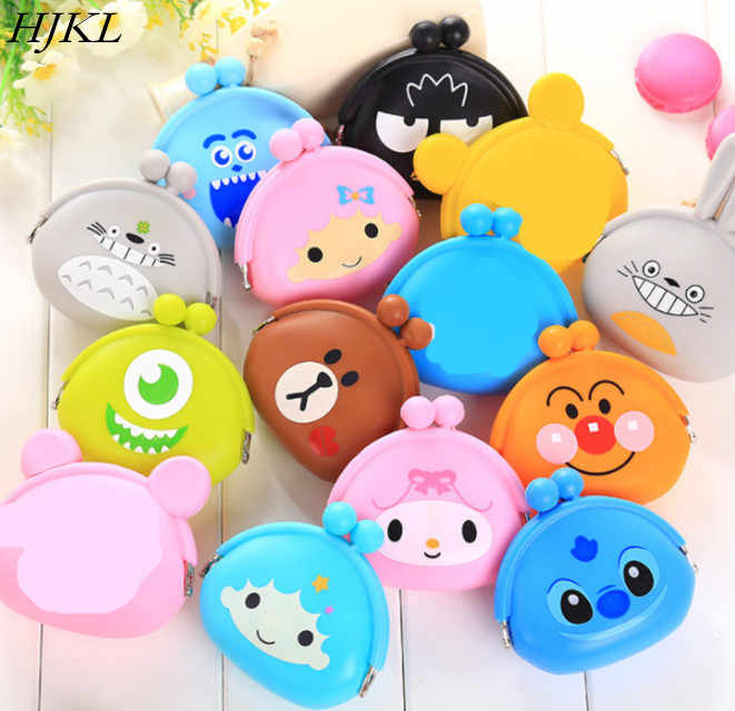 HJKL 2019 New Girls Mini Silicone Coin Purse Animals Small Change Wallet Purse  Women Key Wallet Coin Bag For Children Kids